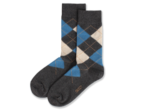 CHARCOAL BLUE ARGYLE