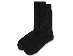 BASIC ARGYLE-BLACK