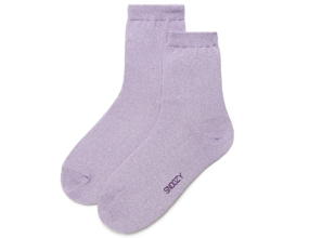 GLITTER SOCKS-PURPLE