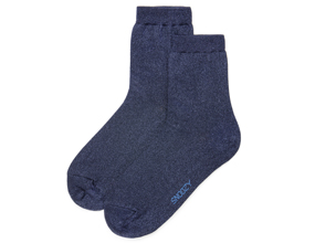 GLITTER SOCKS-NAVY