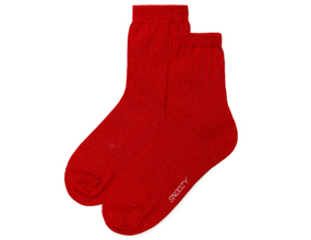 GLITTER SOCKS-RED