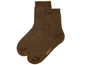 GLITTER SOCKS-BROWN